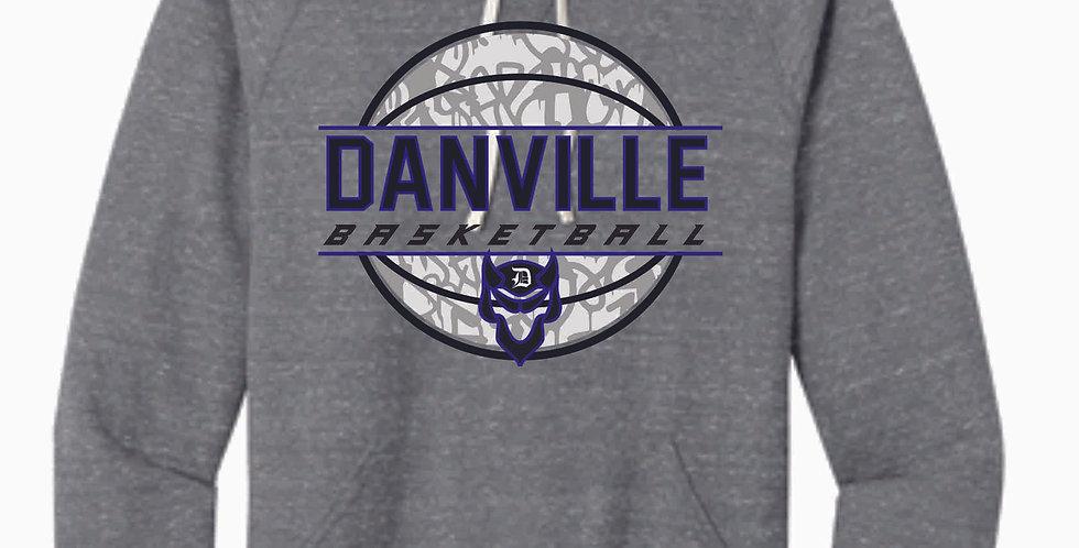 Danville Basketball Grey Snow Heather Soft Hood