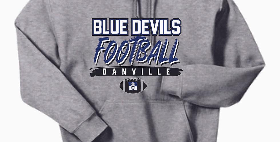 Danville Football Grey Cotton Hoody
