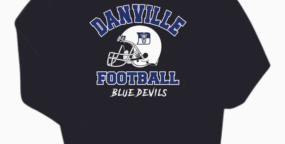 Danville Football Black Generic Cotton Hoody