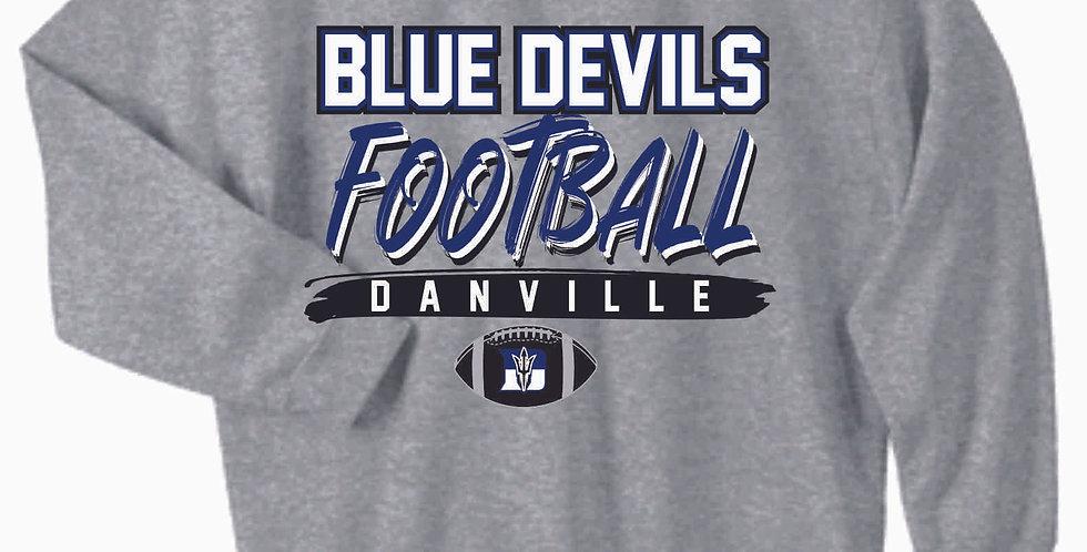 Danville Football Grey Cotton Crew