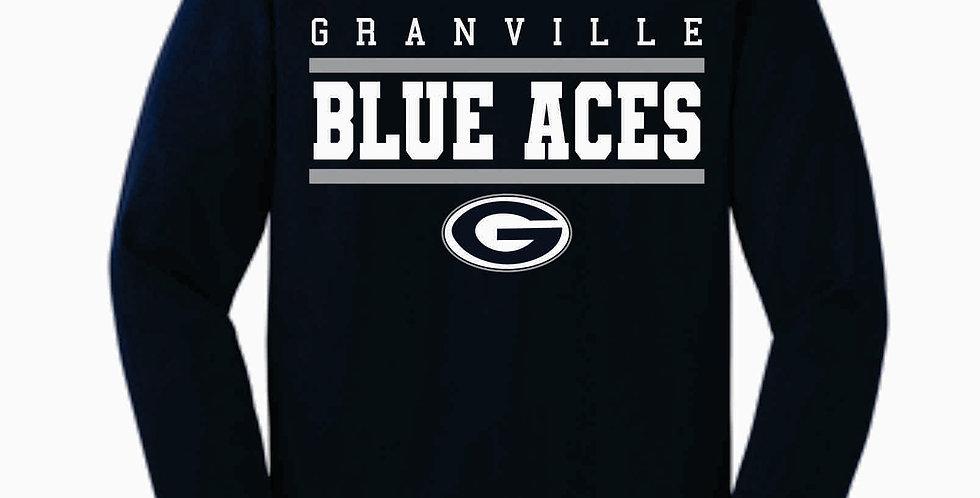 Blue Aces Navy Generic Cotton Longsleeve T-Shirt