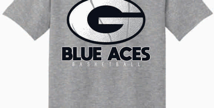 GHS Basketball Grey Cotton T-Shirt