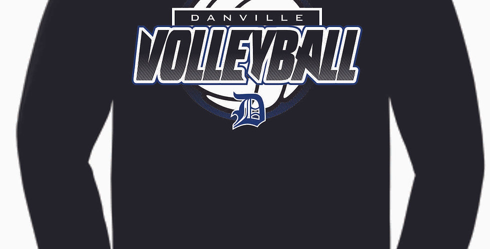 Danville Volleyball Black Cotton Longsleeve T Shirt