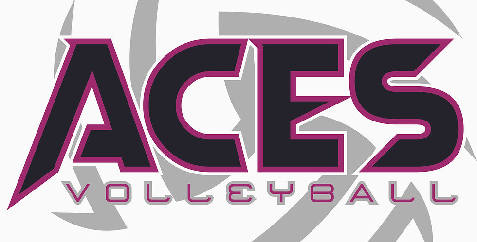 Aces Volleyball Circle Window Decal