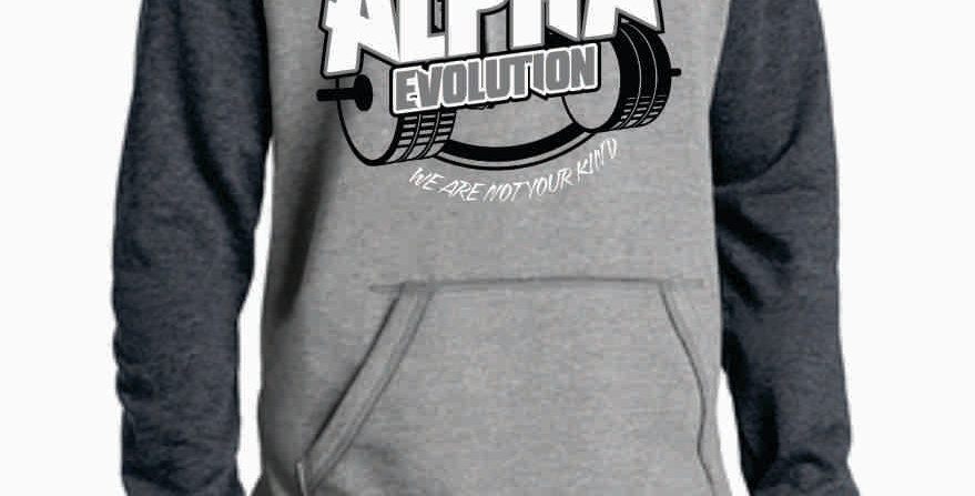 Alpha Evolution Grey Two Toned Hoody