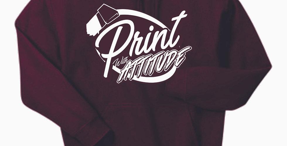 Newark Youth Softball Print With Attitude Maroon Cotton Hoody