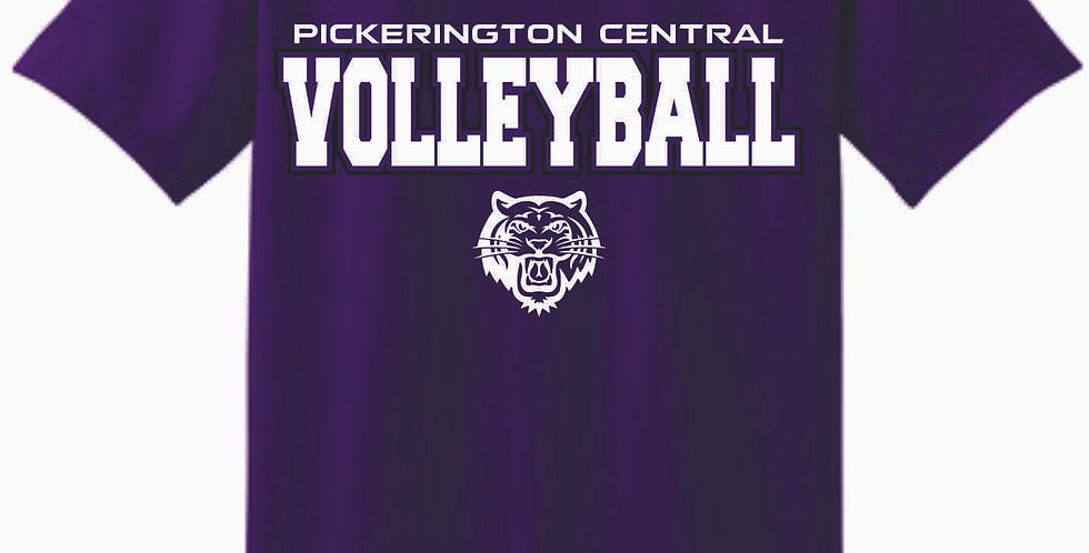 Tiger Volleyball Purple Simple Cotton T Shirt