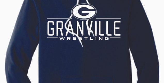 Granville Wrestling Navy Soft Bella Hoody