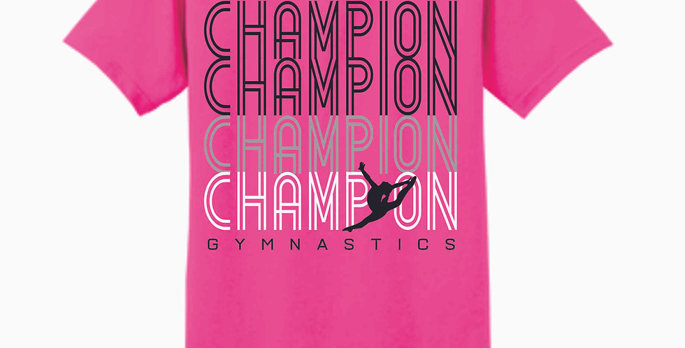 Champion Gymnastics Safety Pink Cotton T Shirt