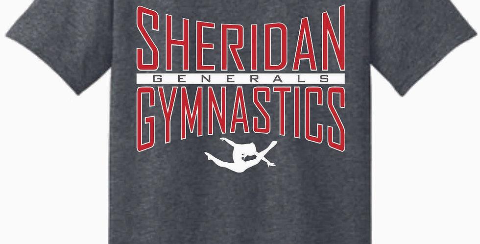 Sheridan Gymnastics Gildan Cotton Dk Grey T Shirt