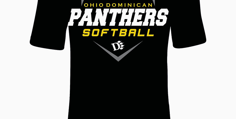 ODU Softball Under Armour Simple Black Dri Fit Shortsleeve
