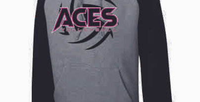 Aces Volleyball Two Toned Hoodie