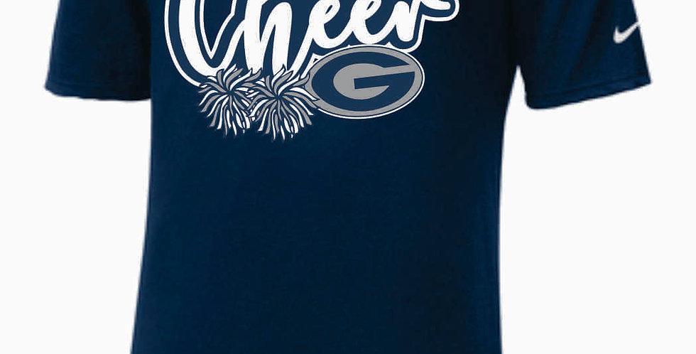 GHS Cheer Navy Nike Core Cotton T-Shirt