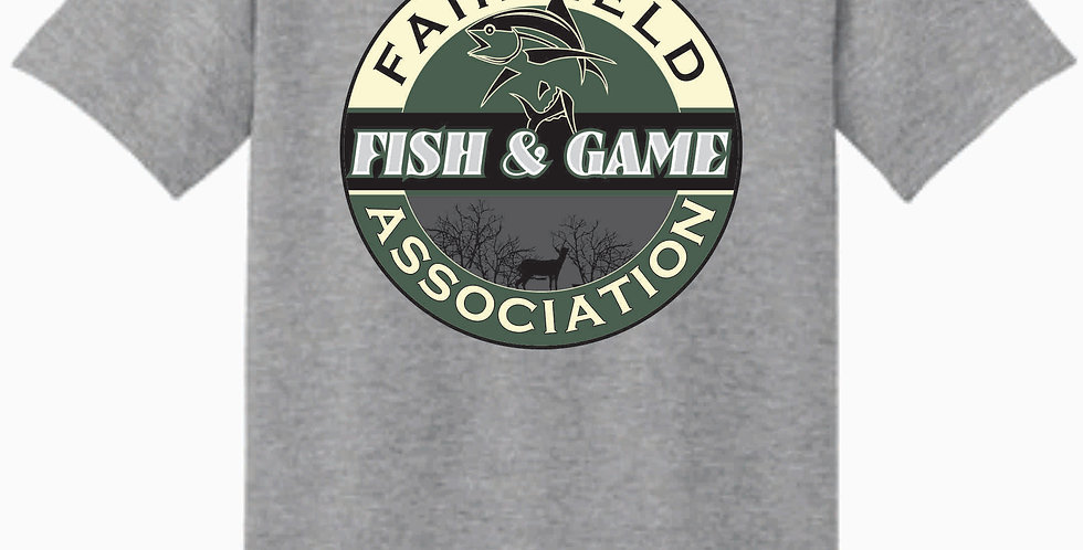 Fairfield Fish and Game Grey Gildan Cotton Grey T Shirt