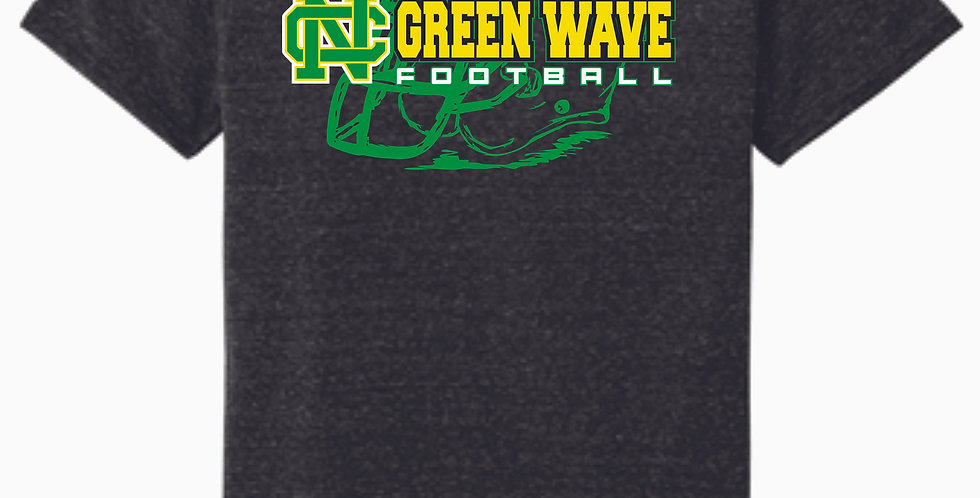 NC Football Black Soft T shirt