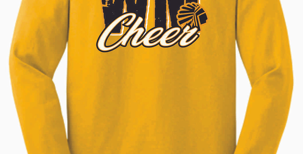 Watkins Cheer Gold Longsleeve Cotton T shirt