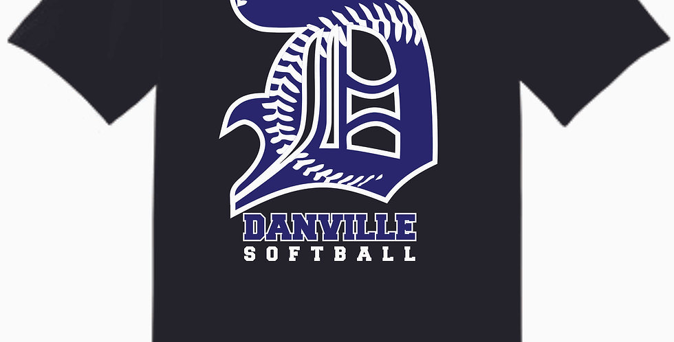 Danville Softball Black Cotton T Shirt