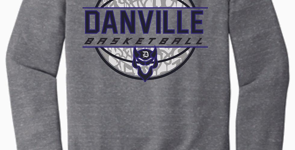 Danville Basketball Grey Snow Heather Soft Crew
