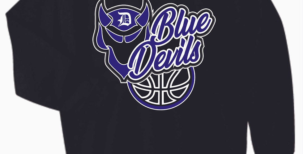 Danville Basketball Black Cotton Crewneck