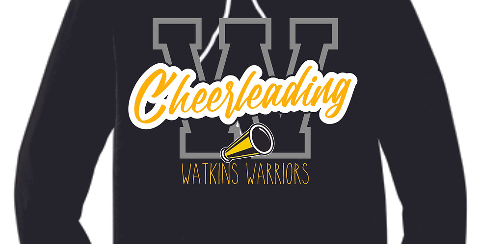Watkins Cheer Black Soft Hoody