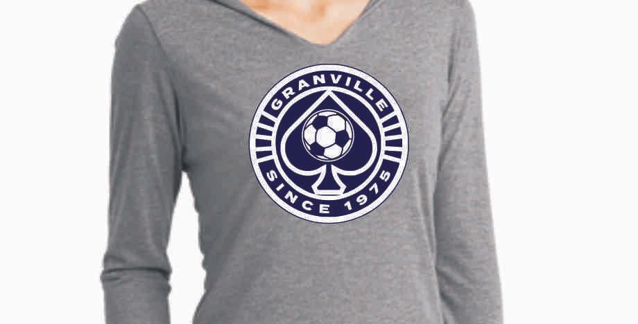 Granville Soccer Grey  Ladies Longsleeve Hoody