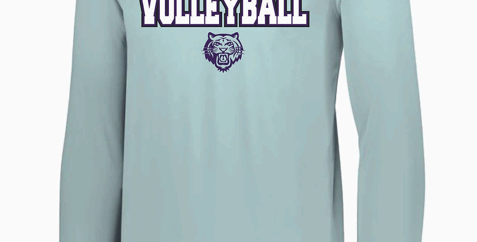 Tiger Volleyball Grey Simple Longsleeve Dri Fit