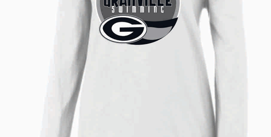 GHS Swimming White Nike Ladies Core Cotton Long Sleeve Scoop Neck Tee