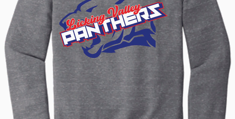Licking Valley Grey Panther Head Soft Crewneck