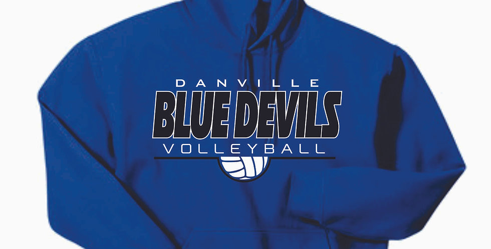 Danville Volleyball Royal Simple Cotton Hoody