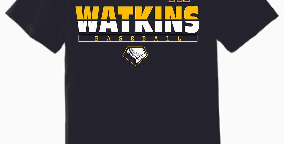 SWL Baseball Watkins Black Soft Cotton T Shirt