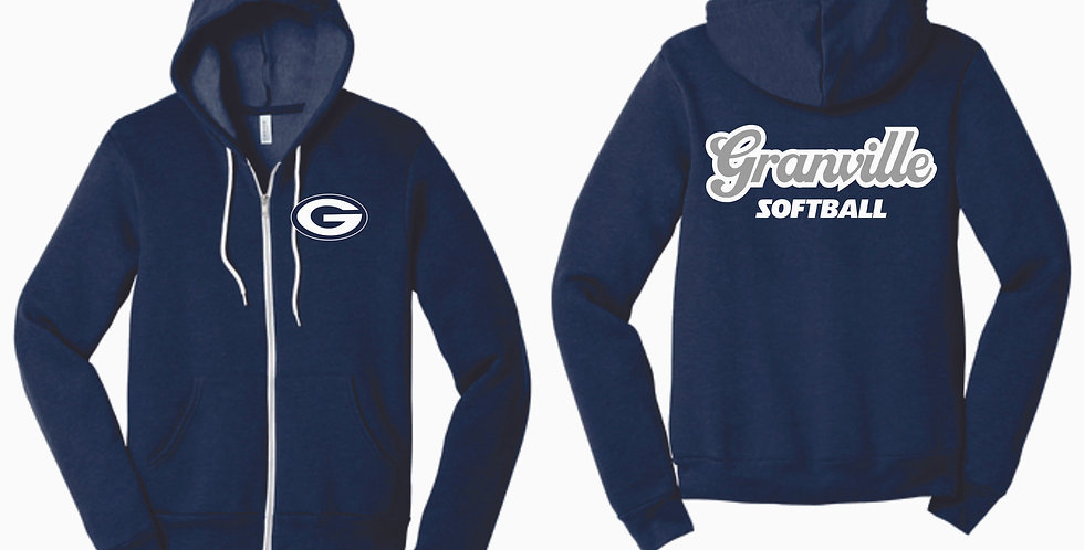 Granville Softball Full Zip Soft Hoody