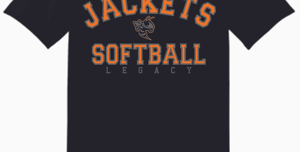 Mount Vernon Softball Simple Black Cotton T Shirt