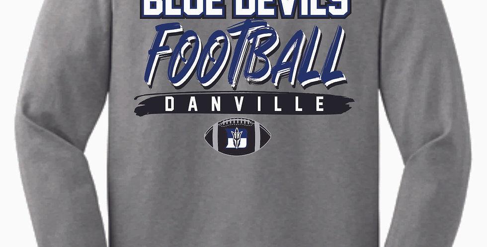 Danville Football Grey Cotton Longsleeve