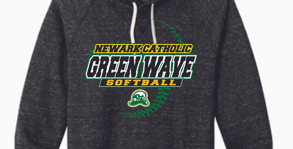 Newark Catholic Jerzee Black Snow Heather Vintage Hood