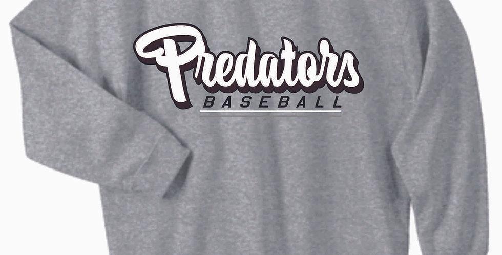 Predators Script Grey Cotton Crewneck