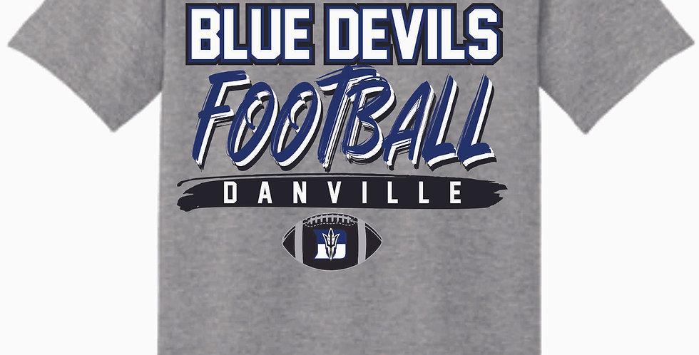 Danville Football Sport Grey Cotton T Shirt