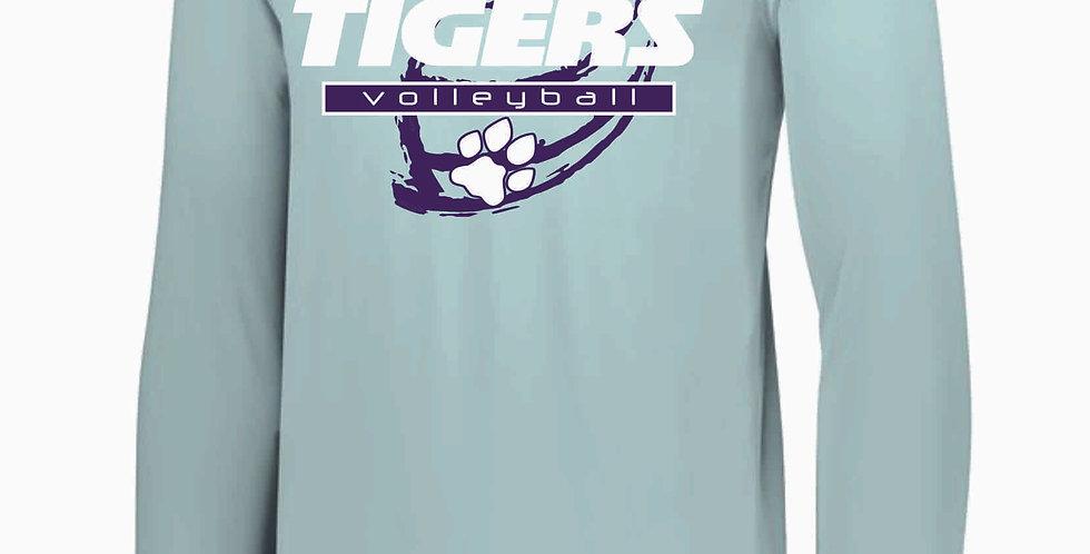 Tiger Volleyball Grey Ball Longsleeve Dri Fit