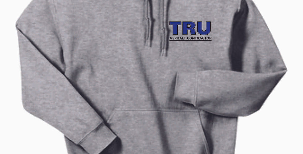 Tru Asphalt Embroidered Hooded Sweatshirt