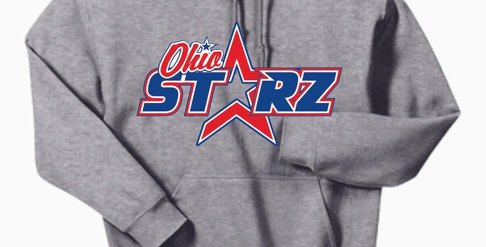 Ohio Starz Grey Logo Cotton Hoody