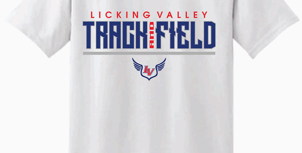 Licking Valley Track and Field White Cotton T Shirt