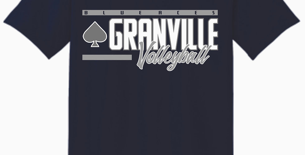 Granville Volleyball Navy Cotton T Shirt