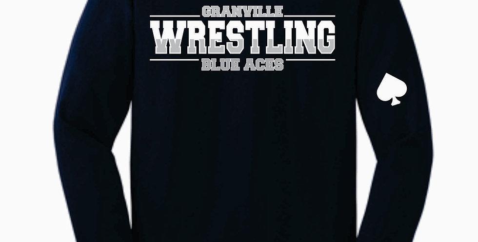 Granville Wrestling Navy Longsleeve T Shirt