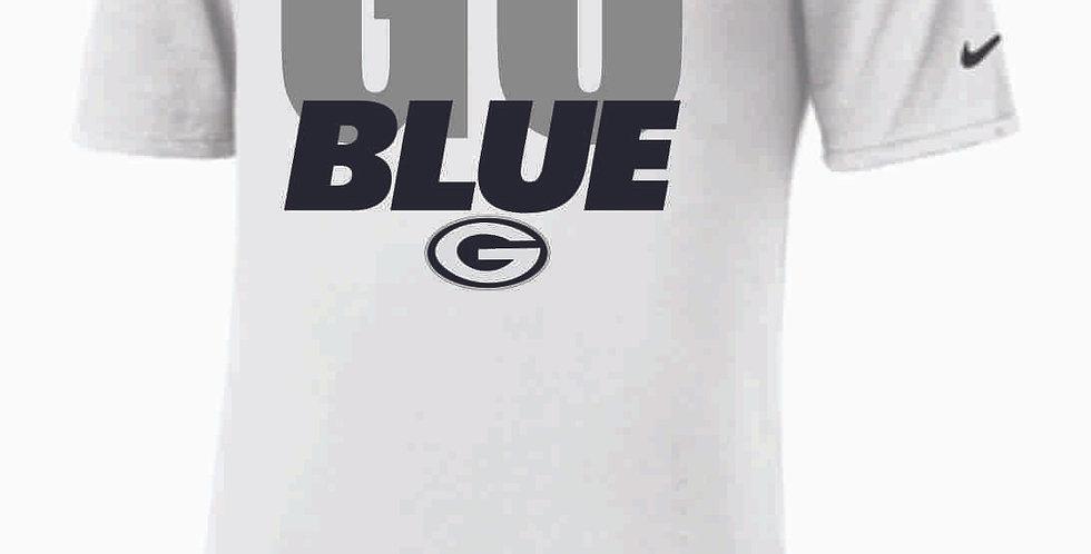 Go Blue Nike White Shortsleeve