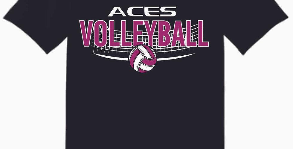 Aces Volleyball Original Black T Shirt