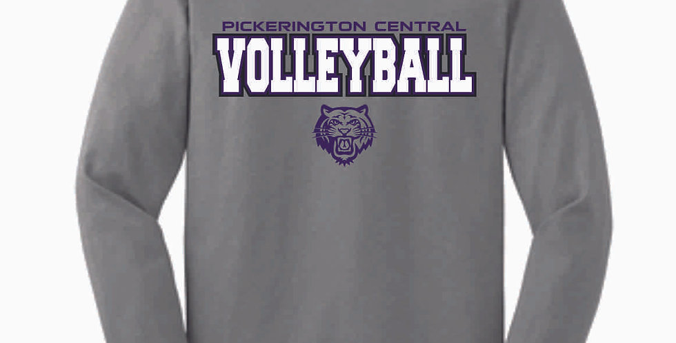 Tiger Volleyball Grey Simple Cotton Longsleeve