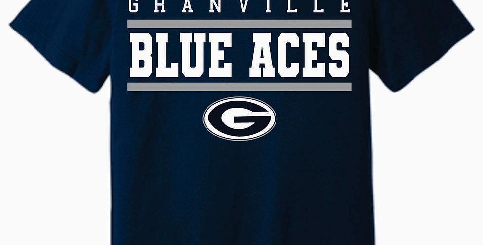 Blue Aces Soft Generic Navy T shirt
