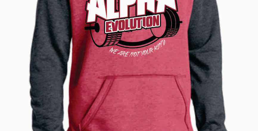 Alpha Evolution Red Two Toned Hoody
