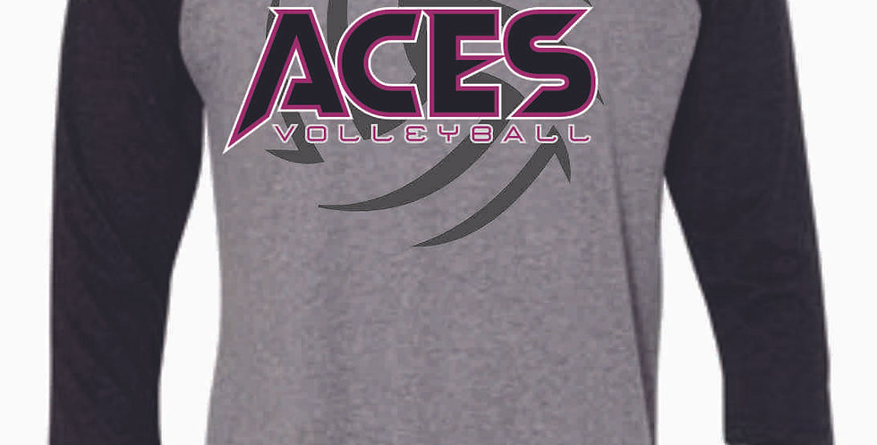 Aces Volleyball 3/4 Length Tee