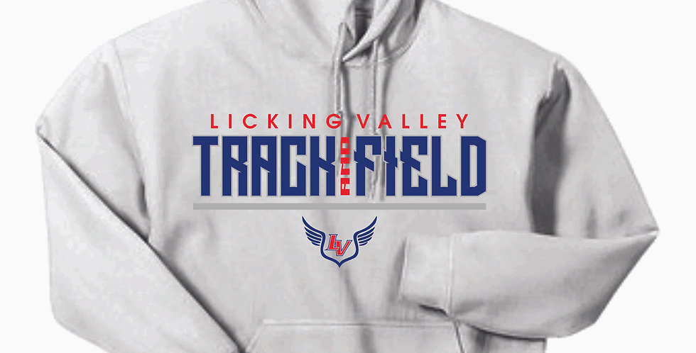 Licking Valley Track and Field White Hoody