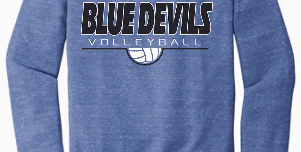 Danville Volleyball Royal Simple Jerzee Vintage Snow Heather Crewneck